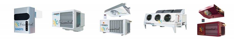 Equipos frigorificos y de refrigeracion para camaras