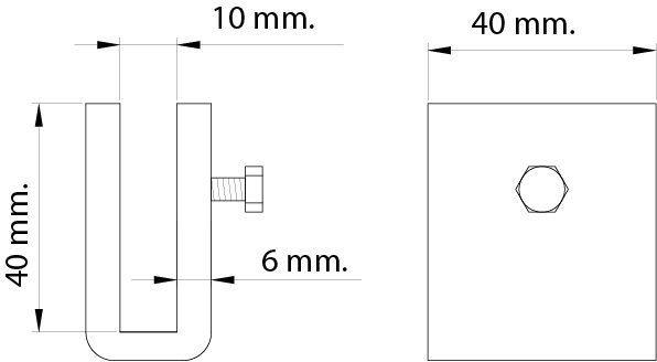 Soporte pletina para soldar en cámara frigorífica